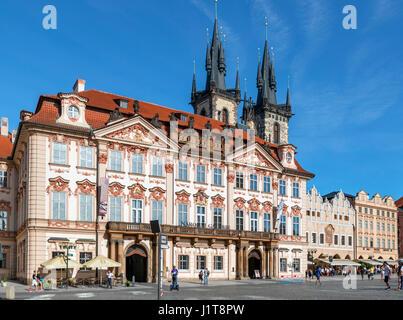 Kinsky Palace, part of the National Gallery, Old Town Square (Staroměstské náměstí), Staré Město, Prague, Czech - Stock Photo