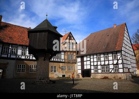 Adelshof, Quedlinburg, Saxony-Anhalt, Germany, Europe - Stock Photo