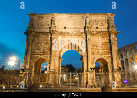 The Arch of Constantine near the colosseum in Rome, Italy - Stock Photo