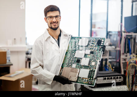 CMTS card needs to be fixed by technician - Stock Photo