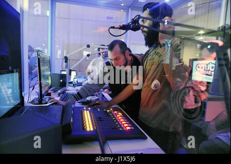 Radio City Milano, meeting of national and local radio throughout Italy, international and university broadcasters, - Stock Photo