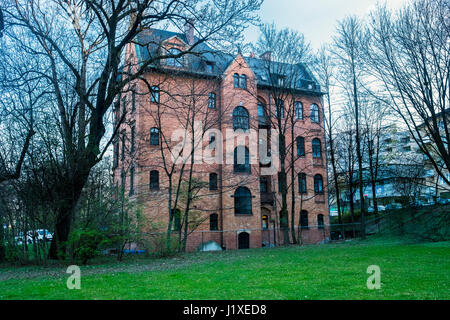 Munich, Bavaria, Germany- March 29, 2017. Typical house in the city of Munich - Stock Photo