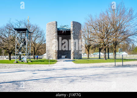 Dachau, Bavaria, Germany.- March 28, 2016. Dachau camp, the first concentration camp in Germany during World War - Stock Photo