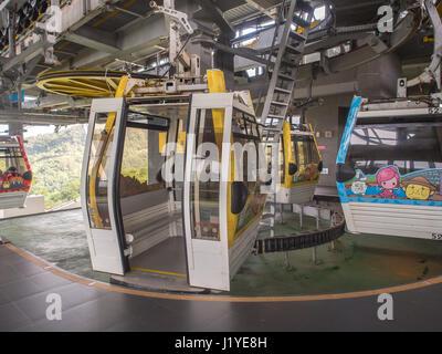 Gondola Cable Car at Maokong Taipei Taiwan Stock Photo