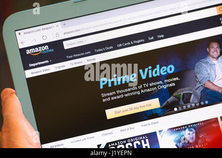 Amazon Prime, Prime Video Registration Sign Up Page, Website Screen - Stock Photo
