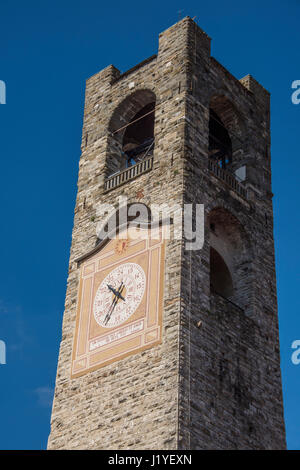The Civic Tower in Bergamo, Italy - Stock Photo