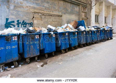 Cuba social issues: unhygienic 'Teniente Rey' street in Old Havana. Lack of garbage pick up. The street is one of - Stock Photo