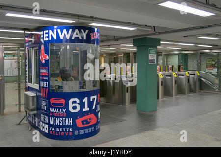 Boston Massachusetts MBTA T Green Line subway outbound train ...