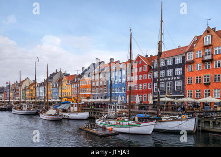 Nyhavn, Copenhagen, Denmark, Scandinavia - Stock Photo