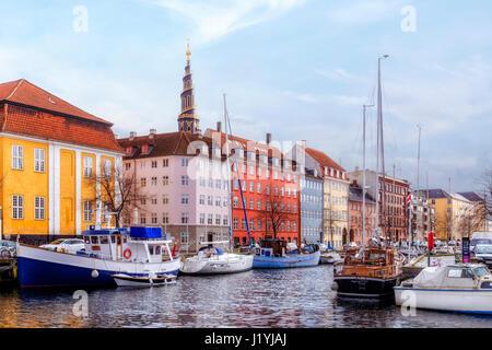 Church of Our Saviour, Copenhagen, Denmark, Scandinavia - Stock Photo