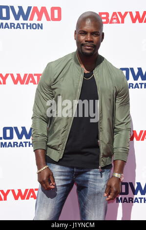 Los Angeles, California, USA. 22nd April, 2017. Amin Joseph Attends the 'Baywatch' Slowmo marathon held at Microsoft - Stock Photo