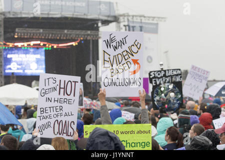 Washington, District Of Columbia, USA. 22nd Apr, 2017. Protest signs at the March For Science in Washington, DC - Stock Photo
