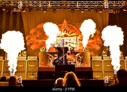 Las Vegas, USA. 21st Apr, 2017. Las Vegas Nevada, April 21, 2017 - Sully Erna, Guitarist and front man of Godsmack - Stock Photo