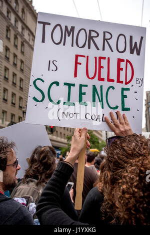 San Francisco, California, USA. 22nd April, 2017. Thousands gathered for the event  to show for support for science - Stock Photo