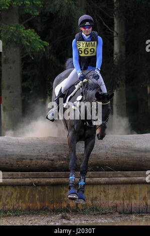 Henley on Thames, UK.  23 April 2017.  Participants take part in the Hambleden Horse Trials.  Celebrating its 20th - Stock Photo