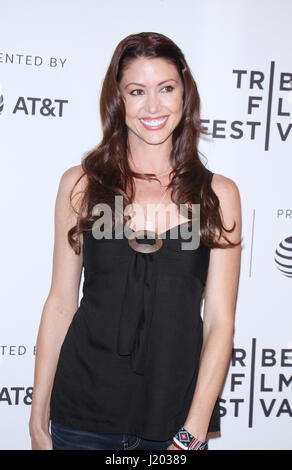 New York, USA. 22nd April, 2017. Shannon Elizabeth at the 2017 Tribeca Film Festival premiere of The Last Animals - Stock Photo