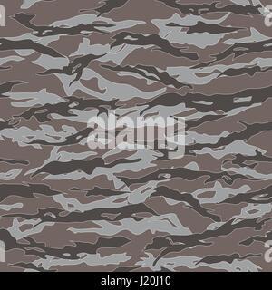 Desert Tiger Stripe Camouflage Seamless Patterns Vector Illustration