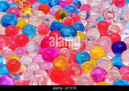 transparent colored jelly balls texture close up - Stock Photo