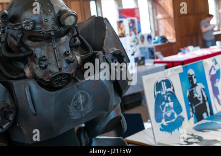 Oxford, Oxfordshire, UK. 23rd April 2017, 2nd OxCon comic con in Oxford. Credit: Stanislav Halcin/Alamy Live News - Stock Photo