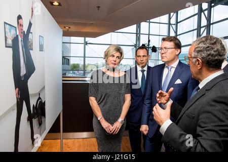 Prince Constantijn and Princess Laurentien attend the award ceremony of the World Press Photo in Muziekgebouw Aant - Stock Photo