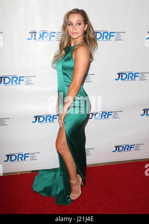 Beverly Hills, CA, USA. 17th Jan, 2017. 22 April 2017 - Beverly Hills, California - Brec Bassinger. JDRF LA Chapter's - Stock Photo