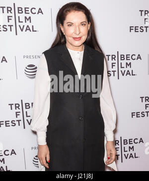 New York, USA. 22nd April, 2017. Marina Abramovic attends the Tribeca Talks: Director Series: Alejandro Gonzalez - Stock Photo