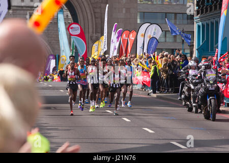 London, UK. 23rd April, 2017. LONDON MARATHON 2017. Today an estimated 50,000 runners took to the streets of the - Stock Photo