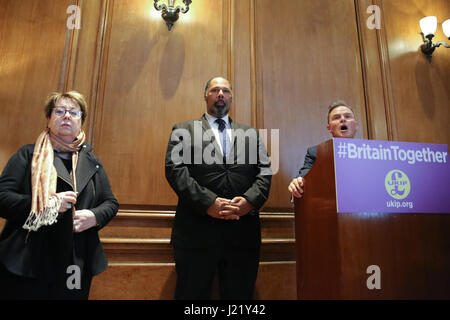 London, UK. 24th April, 2017. UKIP Women and Equalities Spokesman Westminster, London. UK 24 Apr 2017. Margot Parker - Stock Photo