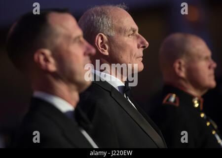 U.S. Homeland Security Secretary John Kelly attends the Navy-Marine Corps Ball at the Washington Hilton February - Stock Photo