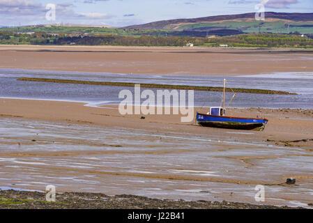 Sunderland Point on the river Lune estuary near Lancaster. - Stock Photo
