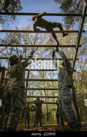 U.S. Soldiers assigned to the 55th Signal Company (Combat Camera), are safeties for competitors executing the weaver - Stock Photo