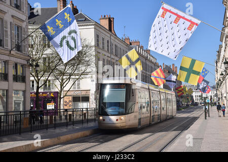 Tram, Orleans, Loire Valley, France - Stock Photo