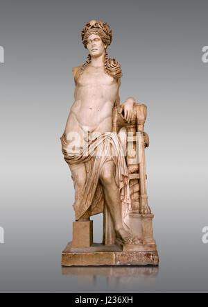 Second Century Roman statue of Apollo excavated from the Theatre of Carthage. The Bardo National Museum, Tunis, - Stock Photo