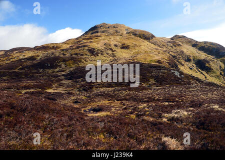 The Scottish Mountain Corbett Farragon Hill from near the Foss Barytes Mine Aberfeldy, Scottish Highlands. - Stock Photo