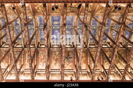 The ceiling in the castle Stockholm City Hall meetings. Stockholm. Sweden - Stock Photo