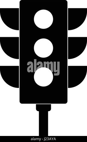 traffic light icon vector, solid logo, pictogram isolated on white, pixel perfect illustration - Stock Photo