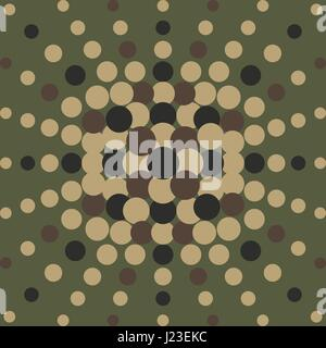 Halftone radial pattern background. Vector dots texture retro. Abstract dotted background concentric - Stock Photo