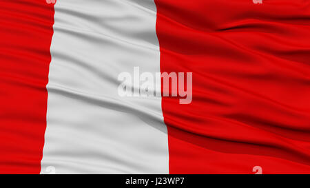 Closeup Vaduz City Flag, Liechtenstein - Stock Photo