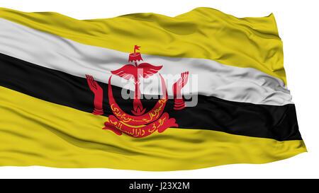 Isolated Brunei Flag - Stock Photo