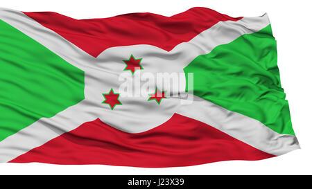 Isolated Burundi Flag - Stock Photo