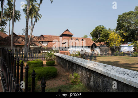India, Kanyakumari District, State of Tamil Nadu. Padmanabhapuram Palace, c. 1601 AD, the largest wooden palace - Stock Photo