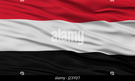 Closeup Yemen Flag - Stock Photo