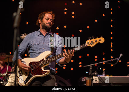 Wilco bringing a beautiful night of music - Stock Photo