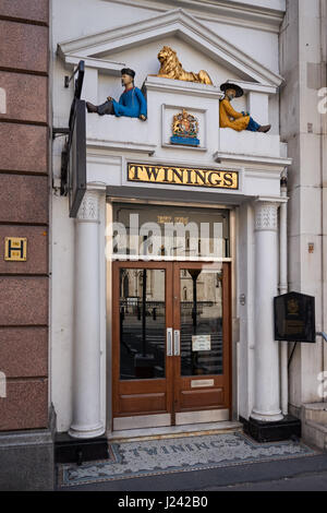 Twinings shop and museum on Strand, London, UK - Stock Photo