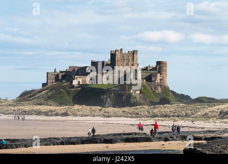 Bamburgh Castle Northumberland, England, Great Britain, UK Stock Photo