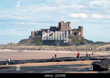 Bamburgh Castle Northumberland, England, Great Britain, UK Stock Photo