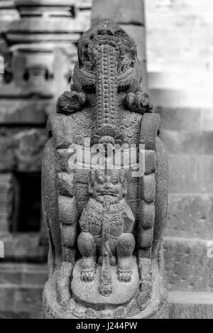 Detail of Makara of Candi Siwa (Shiva Temple) in Prambanan temple complex. 9th century Hindu temple compound located - Stock Photo