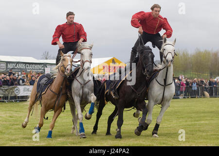 The Devils horsemen stunt team display - Stock Photo