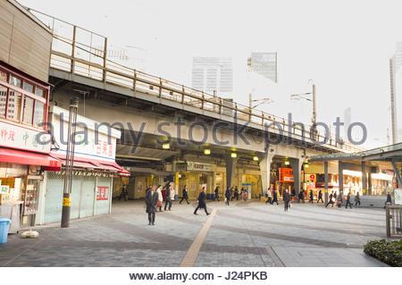 Yurakucho Station, Ginza, Chuo-ku, Tokyo, Kanto, Japan - Stock Photo