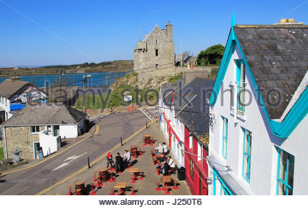 Historic buildings and castle, Baltimore,  County Cork, Ireland, Irish Republic - Stock Photo